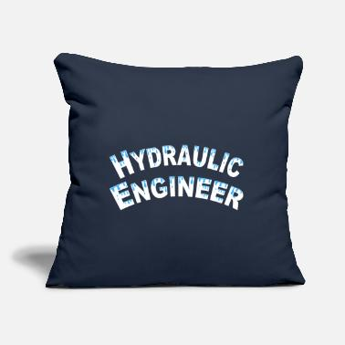 "Water Droplets Hydraulic Engineer Water Droplets White Text - Throw Pillow Cover 18"" x 18"""