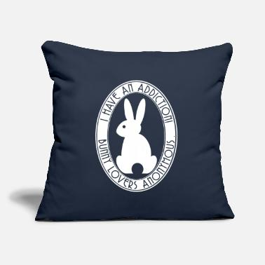 Anonymous I have an Addiction! Bunny Lovers Anonymous White - Throw Pillow Cover