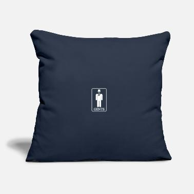 "Gent Gents Sign - Throw Pillow Cover 18"" x 18"""