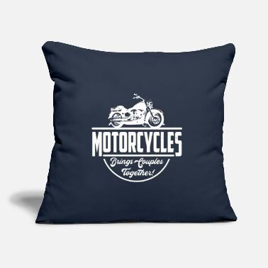 "Motorcycle Couple Motorcycles Bring Couples Together - Throw Pillow Cover 18"" x 18"""