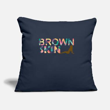 "Skinhead BROWN SKIN GIRL - Throw Pillow Cover 18"" x 18"""