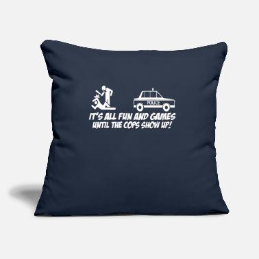 "Policeman POLICEMAN - Throw Pillow Cover 18"" x 18"""