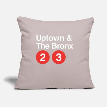 "Uptown The Bronx - Throw Pillow Cover 18"" x 18"""