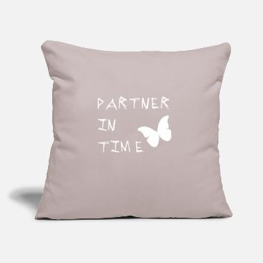 "Partner Partner In Time partner - Throw Pillow Cover 18"" x 18"""