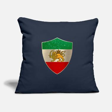 "A Persian Guard Persia Flag Shield - Throw Pillow Cover 18"" x 18"""