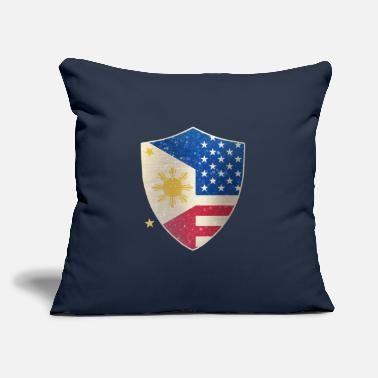 "Shield Philippines American Shield - Throw Pillow Cover 18"" x 18"""
