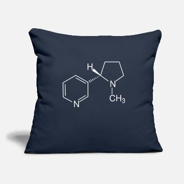 "Nicotine Nicotine - Throw Pillow Cover 18"" x 18"""