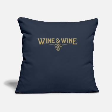 "Wine Wine and Wine - Throw Pillow Cover 18"" x 18"""
