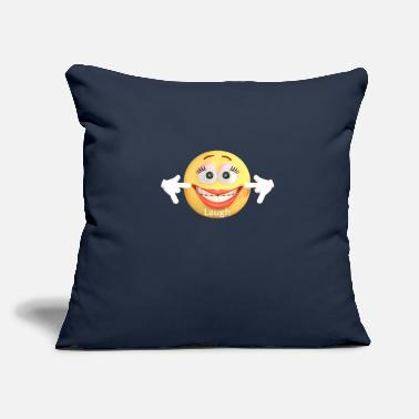 "Laugh Laugh - Throw Pillow Cover 18"" x 18"""