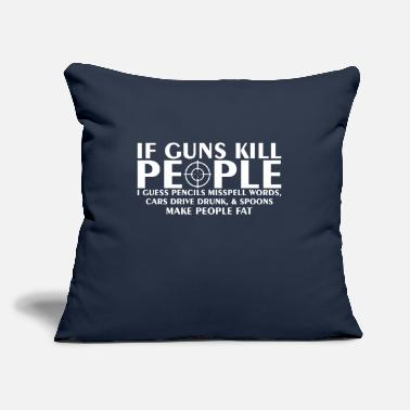 "Drive Go By Car If Guns Kill People Pencil Mispell Cars Drive Drun - Throw Pillow Cover 18"" x 18"""