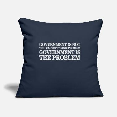 "Government Government Is Not Solution Government Is Problem - Throw Pillow Cover 18"" x 18"""
