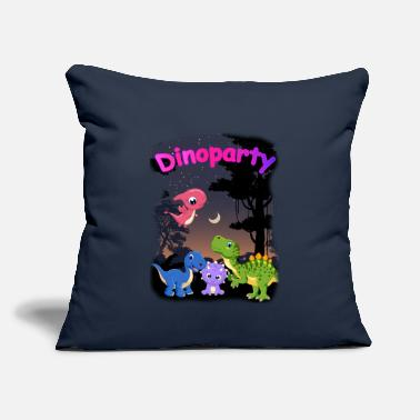 "Dinosaur Dinoparty Night - cute dinosaurs party - Throw Pillow Cover 18"" x 18"""