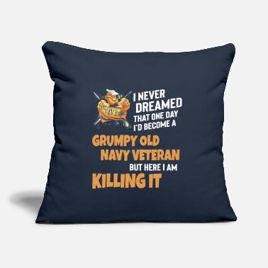 "Grumpy I Never Dreamed That One Day A Grumpy Old Veteran - Throw Pillow Cover 18"" x 18"""