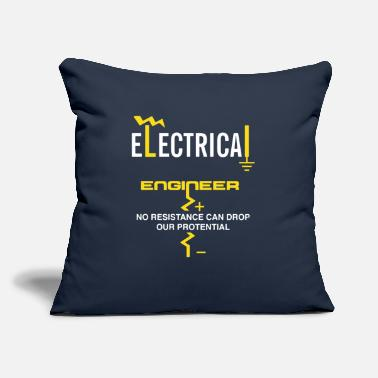 "Engineering Electrical Engineer Shirt - Throw Pillow Cover 18"" x 18"""