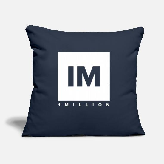 "Dance Pillow Cases - 1 Million Dance Studio - Throw Pillow Cover 18"" x 18"" navy"