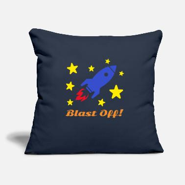 "Blast Off - Throw Pillow Cover 18"" x 18"""