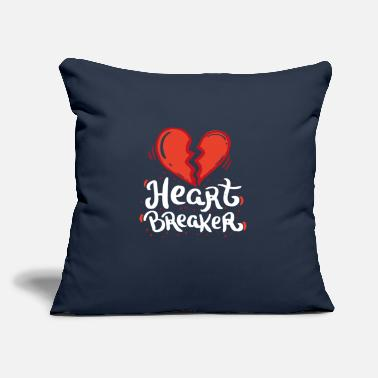 "Day VALENTINE'S DAY Heart Breaker - Throw Pillow Cover 18"" x 18"""