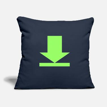 "Download download - Throw Pillow Cover 18"" x 18"""