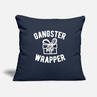 "Funny Christmas Gangster Wrapper Funny Christmas - Throw Pillow Cover 18"" x 18"""