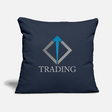 "Trade Trading - Throw Pillow Cover 18"" x 18"""