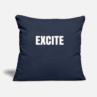 "Excited Excite - Throw Pillow Cover 18"" x 18"""