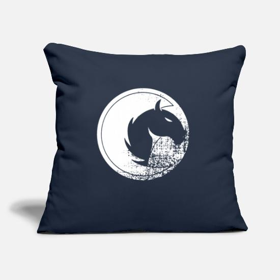 "Speed Pillow Cases - Speed - Throw Pillow Cover 18"" x 18"" navy"