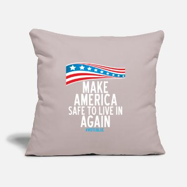 "Make America Safe to Live in Again - Throw Pillow Cover 18"" x 18"""