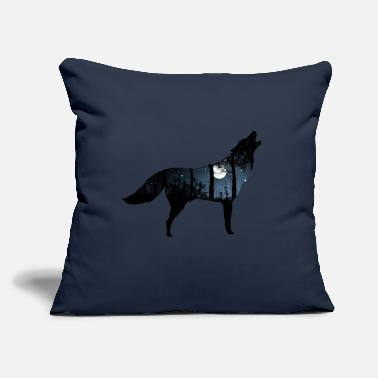 "Landscape Wolf Landscape - Throw Pillow Cover 18"" x 18"""
