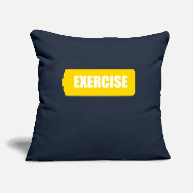 "Exercise exercise - Throw Pillow Cover 18"" x 18"""