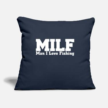"I Love man I love fishing - Throw Pillow Cover 18"" x 18"""