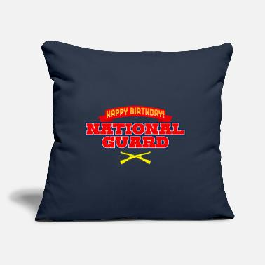 "Army National Guard Happy Birthday National Guard - Throw Pillow Cover 18"" x 18"""