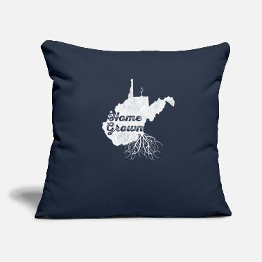 "West Virginia Roots Home T Shirt West Virginia Roots WV Distressed State Pride - Throw Pillow Cover 18"" x 18"""