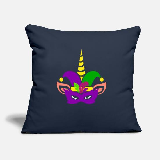 "Bigfoot Pillow Cases - Mardi Gras Unicorn for Men Women Parade New - Throw Pillow Cover 18"" x 18"" navy"