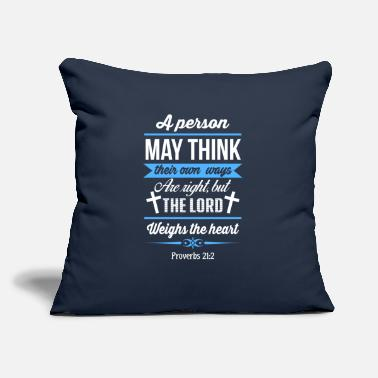 "The Lord Weighs The Heart - Throw Pillow Cover 18"" x 18"""