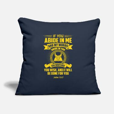 "Abide In Me - Throw Pillow Cover 18"" x 18"""