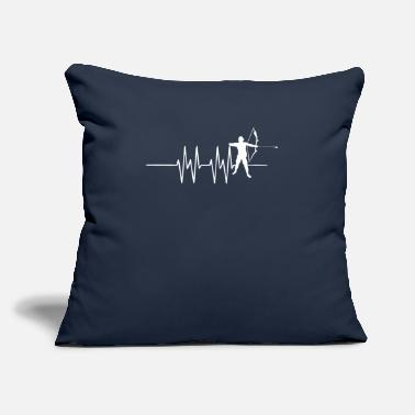 "Inside Man image of heartbeat with a man inside the - Throw Pillow Cover 18"" x 18"""