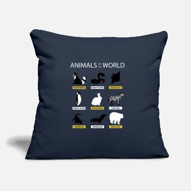 "Animals Of The World Funny Rare Animals Memes Animals Of The World T-Shirt Meme Rare Animals - Throw Pillow Cover 18"" x 18"""