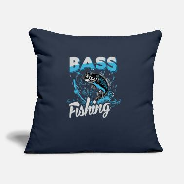 "Bass Bass Fishing - Throw Pillow Cover 18"" x 18"""