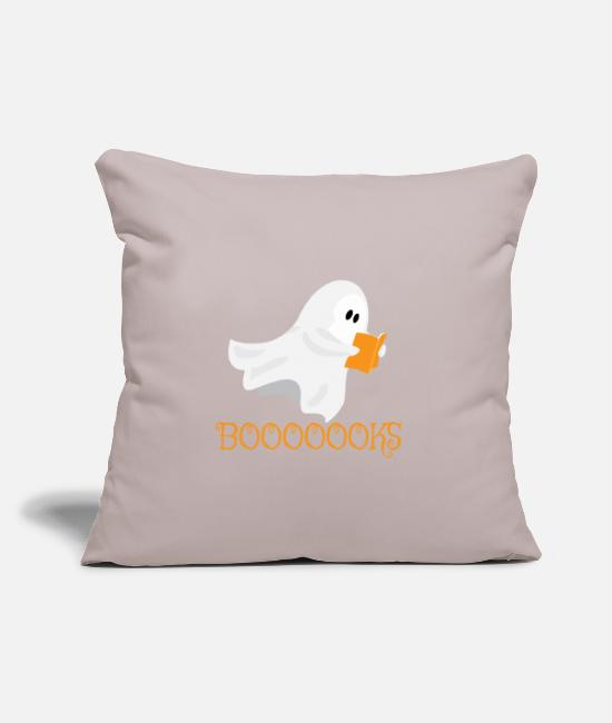"Funny Bowling Pillow Cases - Halloween Funny Goblin Reading Books - Throw Pillow Cover 18"" x 18"" light taupe"