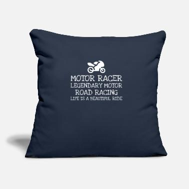 "Motor Race Motor Racer Legendary Motor Road Racing Life - Throw Pillow Cover 18"" x 18"""