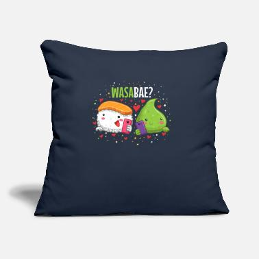 "Pun Sushi Wasabi Couples Valentines Day Pun Japanese - Throw Pillow Cover 18"" x 18"""