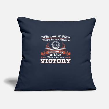 "Out Without A Plan There Is No Attack - Throw Pillow Cover 18"" x 18"""