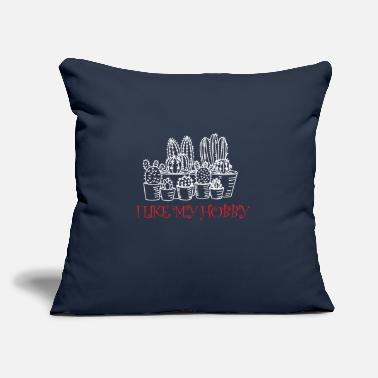 "I like my hobby - Throw Pillow Cover 18"" x 18"""