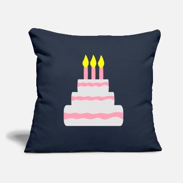 "Sumu Lee Birthday cake - Throw Pillow Cover 18"" x 18"""
