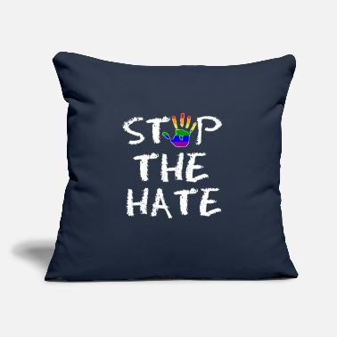"Stop The Hate Gay Pride Stop the Hate - Throw Pillow Cover 18"" x 18"""