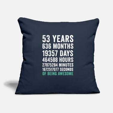 "Graduation Birthday Gift T Shirt 53 Years Old Being Awesome - Throw Pillow Cover 18"" x 18"""