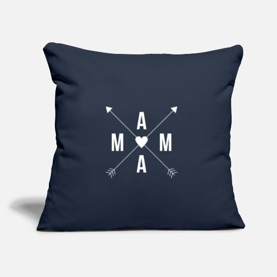 "Mama Pillow Cases - MAMA - Throw Pillow Cover 18"" x 18"" navy"