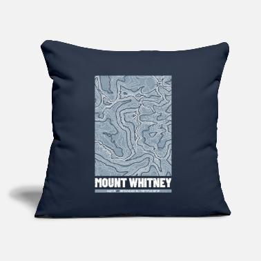 "Mounting Mount Whitney | Topographic Map (Grunge) - Throw Pillow Cover 18"" x 18"""