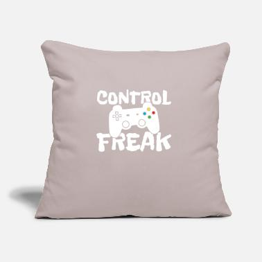 "Game Control Freak Game player - Throw Pillow Cover 18"" x 18"""