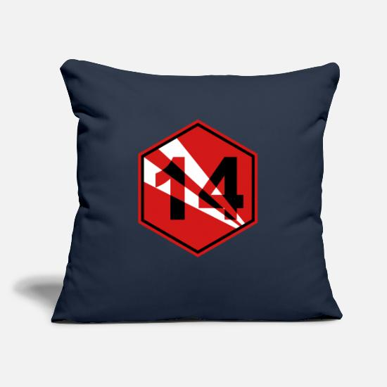 "Symbol  Pillow Cases - number 14 - Throw Pillow Cover 18"" x 18"" navy"